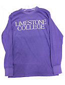 Limestone College Long-sleeve Purple Tee