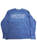 Limestone College Long-sleeve Blue Tee