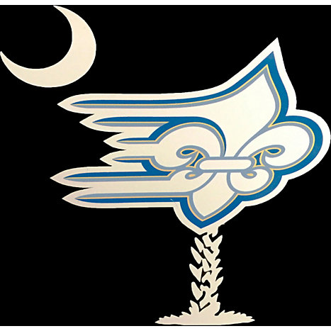 Product: Limestone College Flying Fleur Palmetto Tree Decal