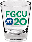 Florida Gulf Coast University 1.5 Oz. Anniversary Collectors Glass