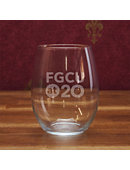Florida Gulf Coast University 21 oz. Stemless Wine Glass