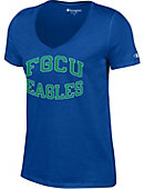 Florida Gulf Coast University Eagles Women's V-Neck T-Shirt