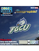Florida Gulf Coast University Eagles Hologram Stand Decal