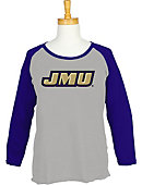 James Madison University Women's 3/4 Sleeve Raglan T-Shirt