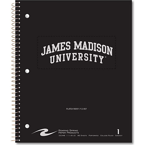Product: James Madison University 80 Sheet One-Subject Notebook