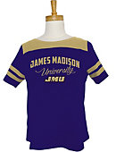 James Madison University Women's Striped T-Shirt