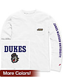 James Madison University Vintage Washed Long Sleeve Pocket T-Shirt
