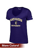 James Madison University Dukes Women's V-Neck T-Shirt