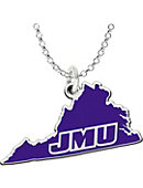 James Madison University State Shaped Necklace