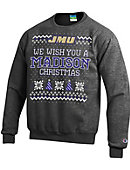 James Madison University Ugly Christmas Sweater Powerblend Crewneck Sweatshirt