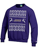 James Madison University Ugly Christmas Sweater Crewneck Sweatshirt