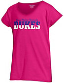 James Madison University Girls' V-Neck Puff Sleeve T-Shirt