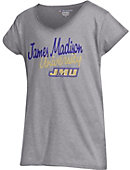 James Madison University Girls' V-Neck Short Sleeve T-Shirt