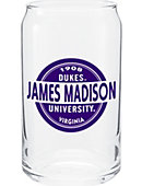 James Madison University Soda Can Glass