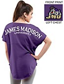 James Madison University Women's Short Sleeve Cut-Off T-Shirt