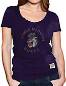 James Madison University Dukes Youth Girls' V-Neck T-Shirt