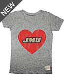 James Madison University Youth Girls' Short Sleeve V-Neck T-Shirt