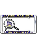 James Madison University Thin Dome License Plate Frame