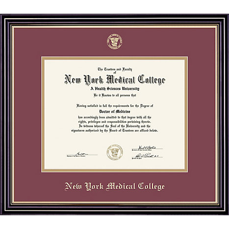 Product: New York Medical College 14'' x 17'' Prestige Diploma Frame