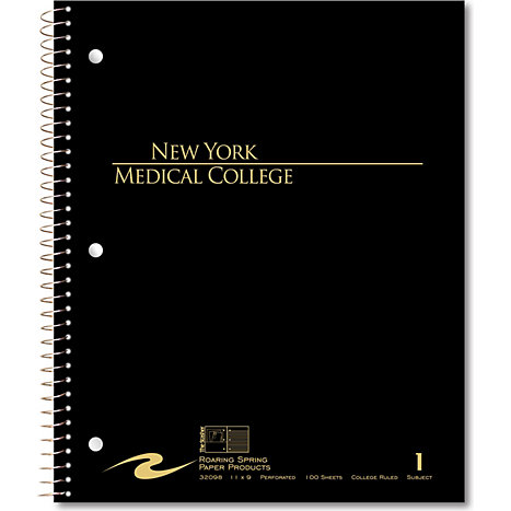 Product: New York Medical College 100 Sheet Notebook