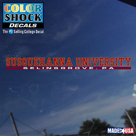 Product: Susquehanna University Location Strip Decal