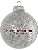 Susquehanna University Sparkle Ornament Ball