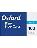INDEXCARD 3x5 100CT PLAIN
