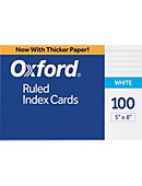 INDEXCARD 5x8 100CT RULED