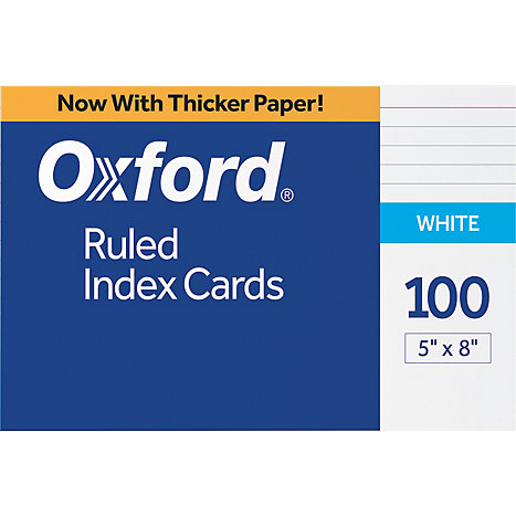 Product: Index Card 5x8