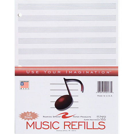 Product: Filler Music Book Sheets 8.5x11