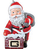 Guilford College 3 in. Rooftop Santa Ornament