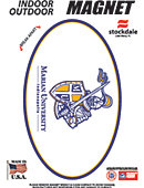 Marian University Knights 3.5''x5.5'' Oval Magnet