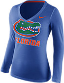 Nike University of Florida Women's Mid-V Long Sleeve T-Shirt