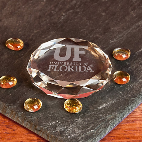 Product: University of Florida Facet Crystal Paperweight
