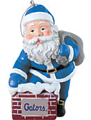 University of Florida 3 in. Rooftop Santa Ornament