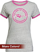 College of DuPage Women's Athletic Fit Ringer Short Sleeve T-Shirt