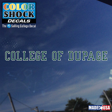 Product: College of DuPage Strip Decal
