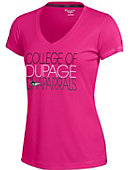 College of DuPage Chaparrals Women's V-Neck Vapor T-Shirt