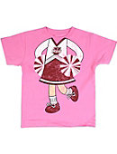 University of Massachusetts - Amherst Cheerleader Toddler T-Shirt