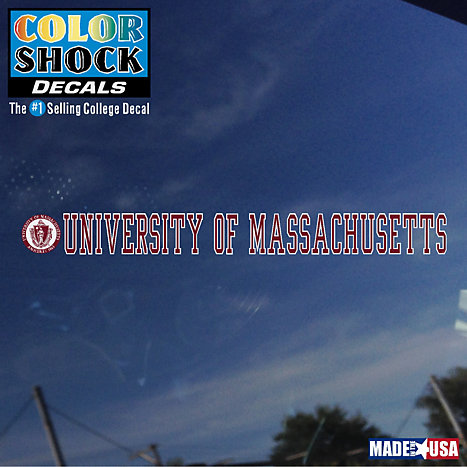 Product: University of Massachusetts Strip Decal