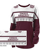University of Massachusetts - Amherst Women's Long Sleeve Ugly Sweater Ra Ra Shirt