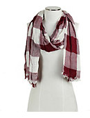 Bay Path University Plaid Scarf