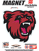Bridgewater State University Bears 4''x4'' Magnet