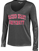 Sacred Heart University Women's Long Sleeve V-Neck T-Shirt