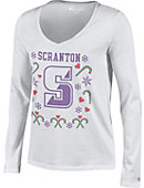 University of Scranton Women's University V-Neck Ugly Sweater Long Sleeve T-Shirt