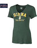 Siena College Women's Short Sleve V-Neck
