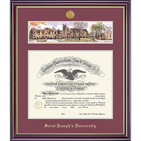 framing success saint josephs university 15 x 19 windsor diploma frame