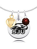 Saint Joseph's University Necklace Cluster with Heart