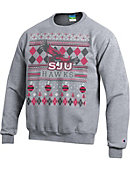 Saint Joseph's University Hawks Ugly Sweater Crewneck Sweatshirt