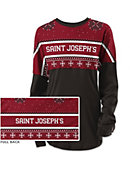 Saint Joseph's University Women's Long Sleeve Ugly Sweater Ra Ra Shirt